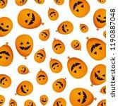 halloween balloon helium with... | Shutterstock .eps vector #1190887048