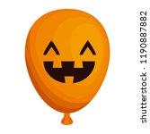 halloween balloon helium with... | Shutterstock .eps vector #1190887882