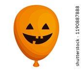 halloween balloon helium with... | Shutterstock .eps vector #1190887888