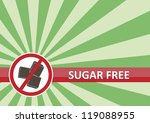 sugar free banner for food... | Shutterstock .eps vector #119088955