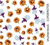 happy halloween ghosts and... | Shutterstock .eps vector #1190890705