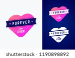 gradient heart with ribbon with ... | Shutterstock .eps vector #1190898892