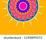 beautiful rangoli design based... | Shutterstock .eps vector #1190899372