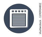 audio amplifier icon in badge...