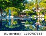 beautiful luxury outdoor... | Shutterstock . vector #1190907865
