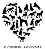 a boxer or similar dog heart... | Shutterstock . vector #1190909365