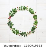 composition of leaves and... | Shutterstock . vector #1190919985