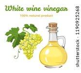 white wine vinegar in glass... | Shutterstock .eps vector #1190925268