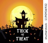 trick or treat lettering with... | Shutterstock .eps vector #1190936932