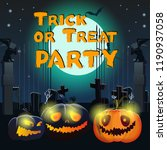 trick or treat party lettering... | Shutterstock .eps vector #1190937058