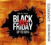black friday sale label.... | Shutterstock .eps vector #1190939272