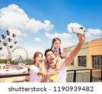 Happy Family Taking Selfie Park - Fine Art prints