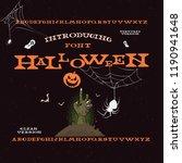 halloween vector font letters ... | Shutterstock .eps vector #1190941648