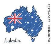australia map hand drawn sketch.... | Shutterstock .eps vector #1190941678