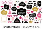 photo booth props set for... | Shutterstock . vector #1190946478