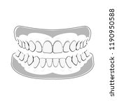 denture icon. icon gums with... | Shutterstock .eps vector #1190950588