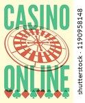 casino online typographical...   Shutterstock .eps vector #1190958148