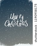 merry christmas. calligraphic... | Shutterstock .eps vector #1190958175