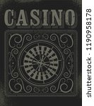 casino typographical vintage...   Shutterstock .eps vector #1190958178