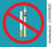 no smoking  no open flame  fire ... | Shutterstock .eps vector #1190959825