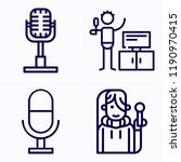 simple set of 4 icons related... | Shutterstock .eps vector #1190970415