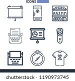 set of 9 other outline icons... | Shutterstock .eps vector #1190973745
