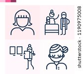 contains such icons as surgeon  ... | Shutterstock .eps vector #1190975008