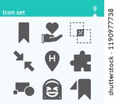 contains such icons as love ... | Shutterstock .eps vector #1190977738