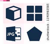 contains such icons as cube ... | Shutterstock .eps vector #1190983585