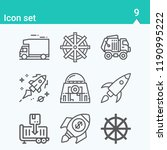 contains such icons as truck ... | Shutterstock .eps vector #1190995222
