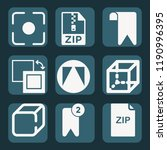 contains such icons as cube ... | Shutterstock .eps vector #1190996395