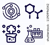 simple set of 4 icons related... | Shutterstock .eps vector #1190996542
