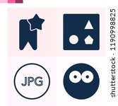 contains such icons as bookmark ... | Shutterstock .eps vector #1190998825