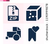 contains such icons as cube ... | Shutterstock .eps vector #1190999878