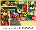 mix of healthy organic...   Shutterstock . vector #1191000862