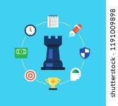 strategy  marketing analysis ...   Shutterstock .eps vector #1191009898