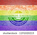 genuine quality emblem on... | Shutterstock .eps vector #1191020215