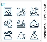 simple set of  9 outline icons... | Shutterstock . vector #1191020935