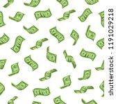 money rain. falling dollars... | Shutterstock .eps vector #1191029218