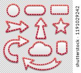 bulb frames. retro marquee... | Shutterstock .eps vector #1191029242