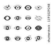 eye icons. human eyes  vision...   Shutterstock .eps vector #1191029248