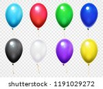 colorful 3d glossy balloons.... | Shutterstock .eps vector #1191029272
