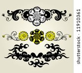vector ornament in flower style | Shutterstock .eps vector #11910361