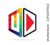 logo icon for multimedia...   Shutterstock .eps vector #1191037012