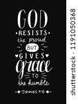 hand lettering god resists... | Shutterstock .eps vector #1191050368