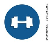 dumbbells icon in badge style.... | Shutterstock . vector #1191052258
