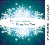 christmas template frame.... | Shutterstock .eps vector #119105335