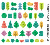 a set of trees of different... | Shutterstock .eps vector #1191063898