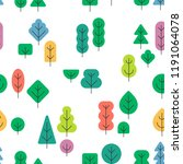 seamless forest pattern with... | Shutterstock .eps vector #1191064078
