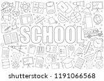 school background from line... | Shutterstock .eps vector #1191066568